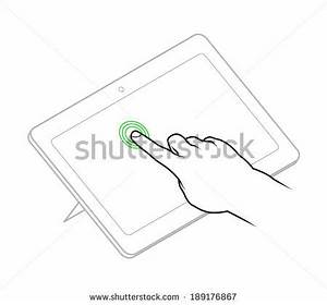 line drawing of a human male hand demonstrating a tap to With simple phone tap