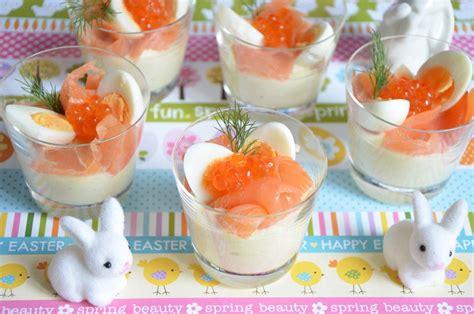 recette plat cuisiné verrines oeuf de caille et saumon pour pâques