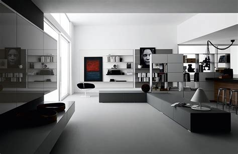 Open Space Living Room Designs by Valcucine