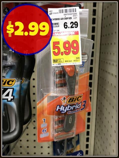 87401 Bic Hybrid 3 Coupon by Bic Hybrid 3 Comfort Razor Only 2 99 At Kroger Kroger