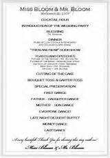 order of wedding reception wedding reception order of events
