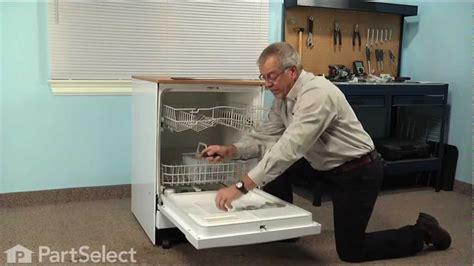 dishwasher repair replacing  upper rack  ge part wdx youtube