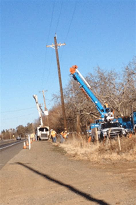 chico pge upgrading power lines  improve reliability
