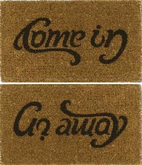 go away come in doormat boing boing