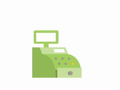 Cash Animation Register Clipart Account Animated Gifs