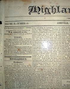 Highland Messenger Newspaper  1841