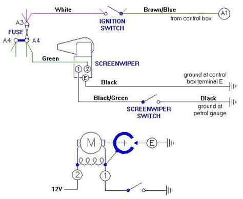 1954 mgtf wiper motor wiring t series prewar forum