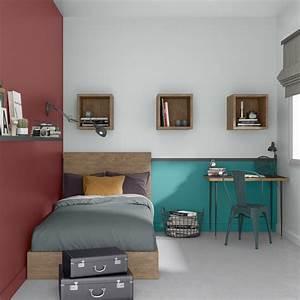 Etagere Chambre Ado : chambre d 39 ado avec bureau et tag res leroy merlin ~ Teatrodelosmanantiales.com Idées de Décoration