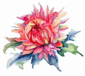 Watercolor Illustration With Beautiful Flowers Painting by ...