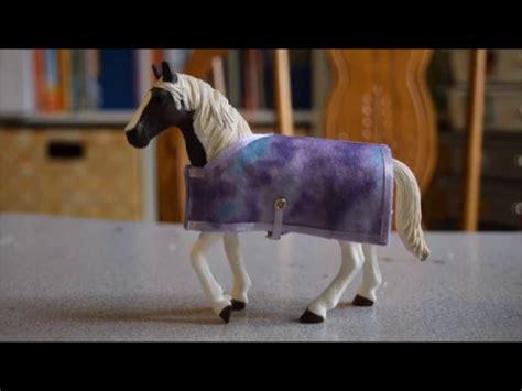 schleich diy     schleich horse blanket youtube