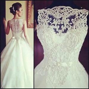 vintage sleeveless princess beaded lace and tulle wedding With vintage beaded lace wedding dress