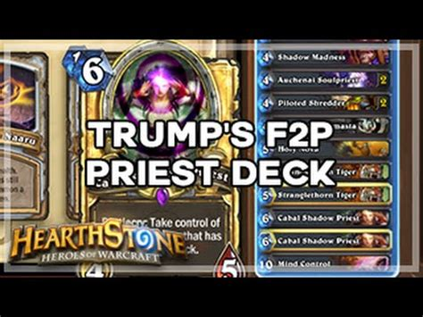 Priest Deck Hearthstone Kft by Hearthstone S Free To Play Priest Deck