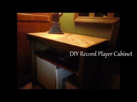 diy record player cabinet diy record player cabinet youtube