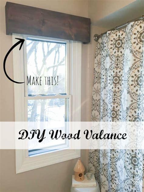 diy wood valance wood valance sypsie designs