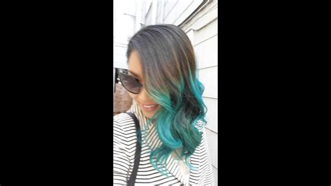 How To Turquoise Blue Ombre Hair Manic Panic Atomic