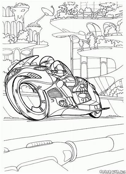 Coloring Futuristic Vehicles Pages Prototype Motorcycle