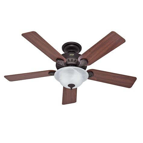 hunter stratford ceiling fan hunter oberlin 52 in led indoor brushed nickel ceiling