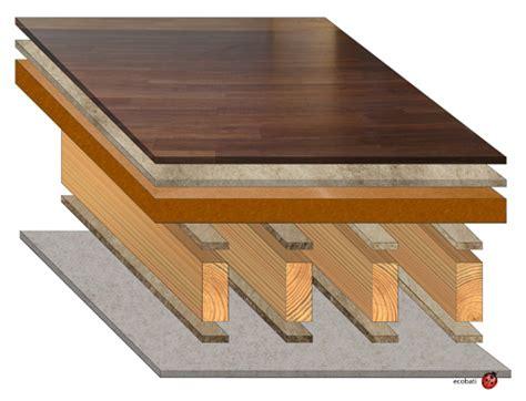isolation phonique plancher bois ancien sch 233 ma plancher isol 233 acoustiquement ecobati