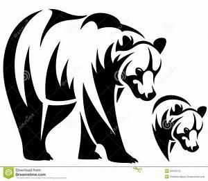 Brown Bear Tattoo Designs | Walking bear and animal head ...