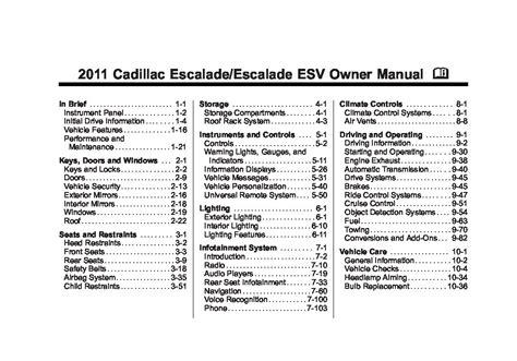 download car manuals 2011 cadillac escalade user handbook 2011 cadillac escalade owners manual just give me the damn manual