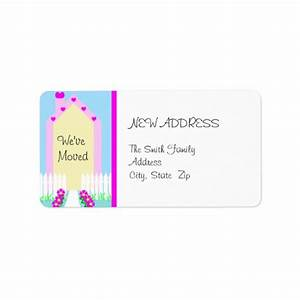 New change of address label cute house zazzle for Change of address labels