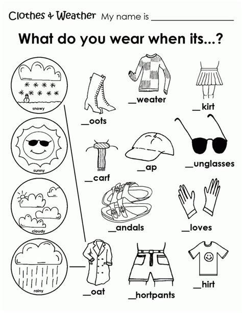 printable weather clothes worksheet memory care activities weather worksheets clothes