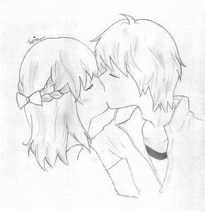 Sketch Of A Girl And Boy Kissing | www.imgkid.com - The ...
