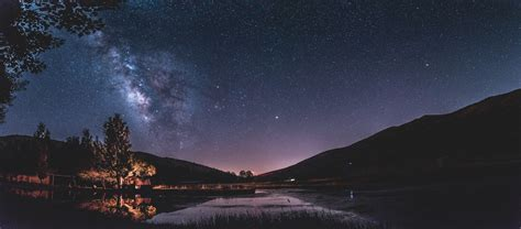 Free Images Landscape Tree Nature Sky Night Milky