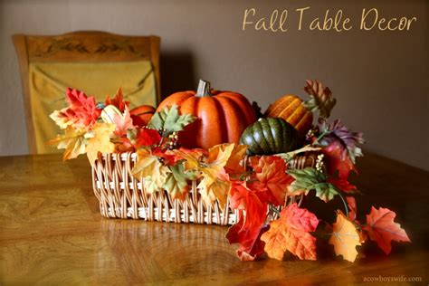how to decorate a table for fall fall decor table centerpiece with leaves and pumpkins