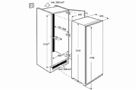 taille meuble cuisine beautiful dimension frigo americain