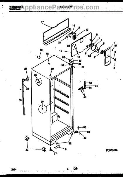frigidaire 218998902 bracket ctr hinge appliancepartspros com