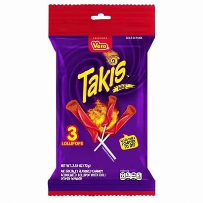 Takis Powder Lollipops Fuego Candy Spicy Vero