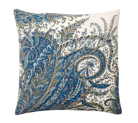 Miller Paisley Throw Pillows by Ellis Paisley Reversible Pillow Cover Pottery Barn