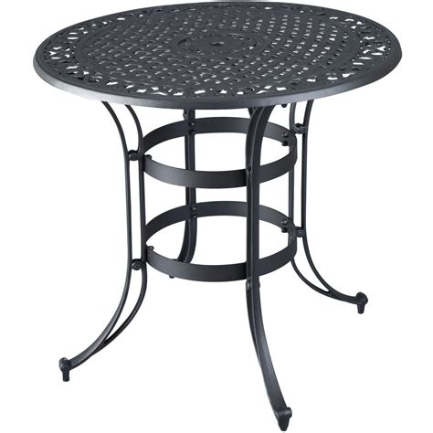 superb black metal patio table 11 high top bistro table