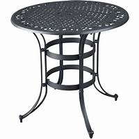 best metal patio table Superb Black Metal Patio Table #11 High Top Bistro Table ...