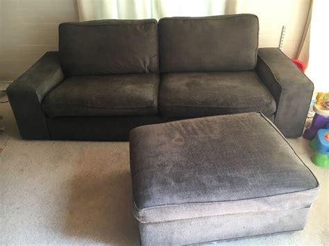 Ikea Kivik Sofa And Storage Footstool