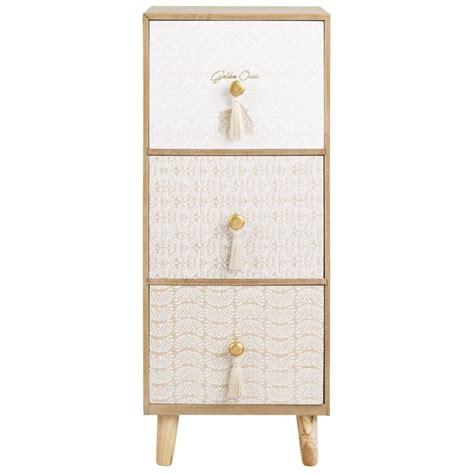 bouton de meuble maison du monde petit meuble de rangement 3 tiroirs maisons du monde collection golden oasis en 2019