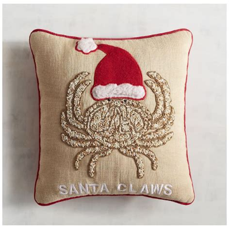 festive coastal christmas pillows sand  sisal