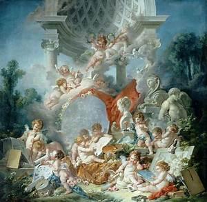 European style Angel Mural Wallpaper 3D Oil painting ...