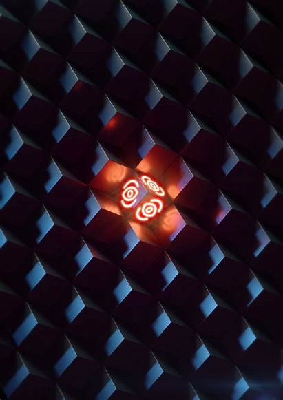 Glow Cubes Structure Bright Dark Wallpapercan