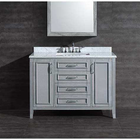 48 bathroom vanity with top and sink shop ove decors daniel grey undermount single sink