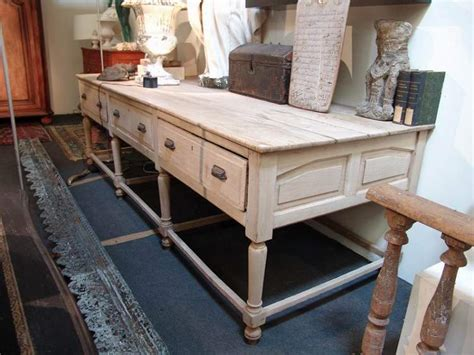custom kitchen island table large french antique work table in oak sold office
