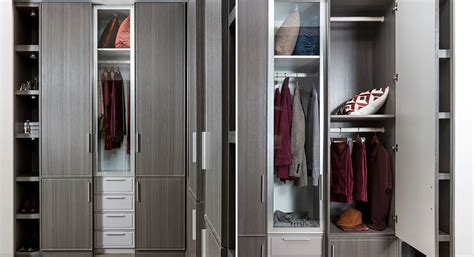 Gray Wardrobe Closet by Oppein Kitchen In Africa 187 L Shape Walk In Closet