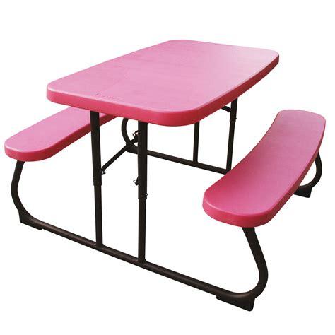 lifetime kids picnic table pinkbronze bjs wholesale