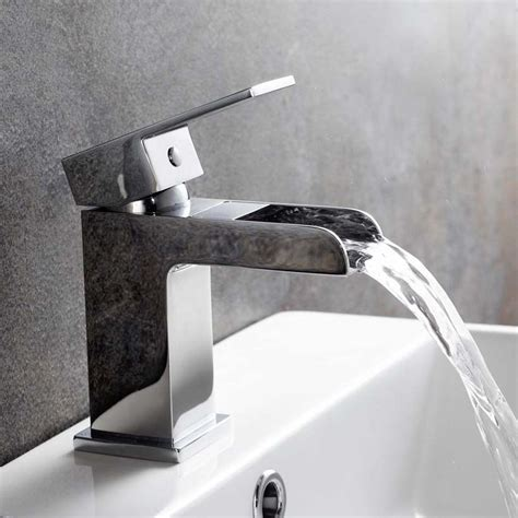Modern Bathroom Sink Taps chrome waterfall basin sink mixer tap modern luxury