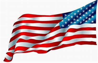 Flag American Clip Vector Waving Clipart Drawing