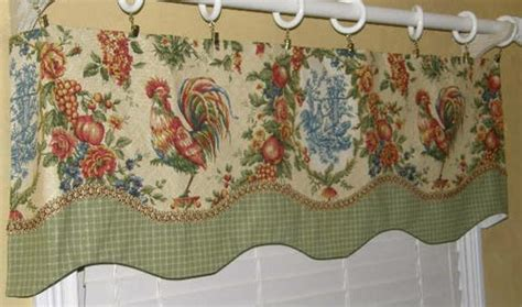 french country valance curtain waverly cream rooster toile
