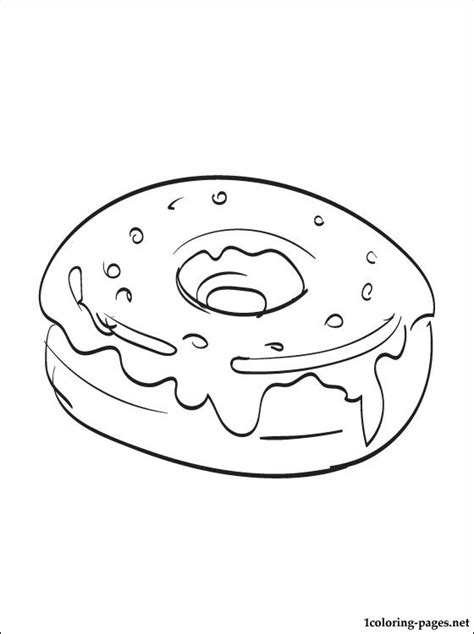 coloring page donuts coloring pages