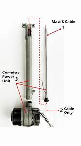 1977 Cadillac Deville Antenna Mast Parts