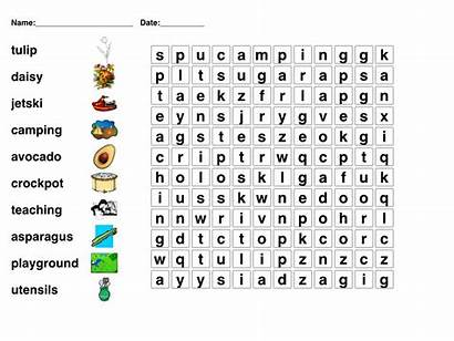Puzzle Puzzles Crossword Printable English Games Word